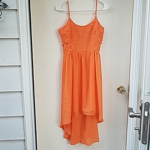 Maurices Dresses & Skirts - Maurice's 5/6 orange high low dress